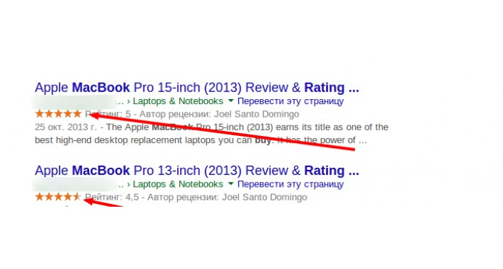 SEO Rich Snippet Reviews Microdata for Product page