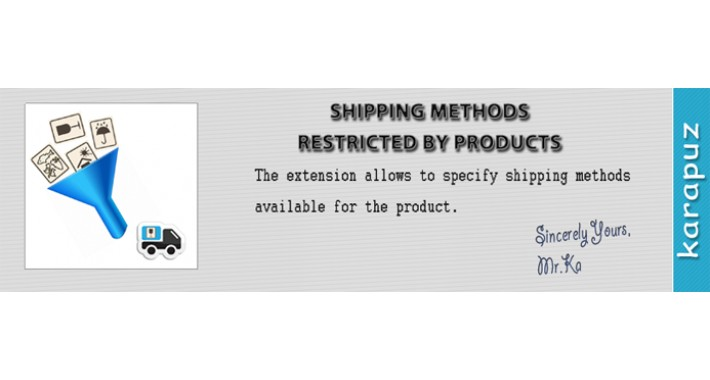 Product Shipping Methods
