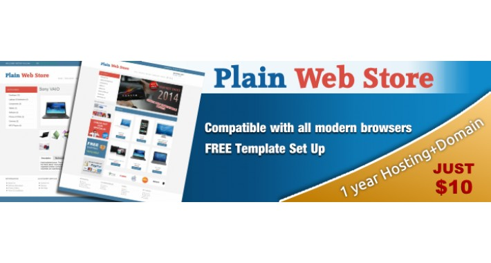 opencart plain web store template