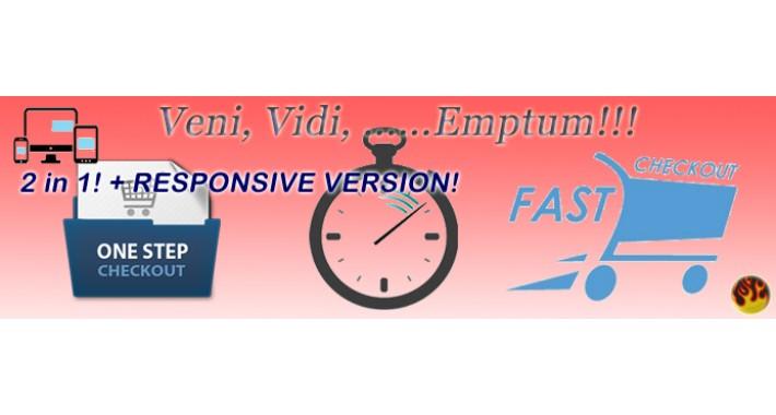 ONE PAGE QUICK (FAST) CHECKOUT PRO v.5.6 + Responsive v. rev.2