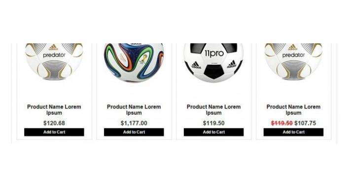 Footbal Store opencart templates with multi layout