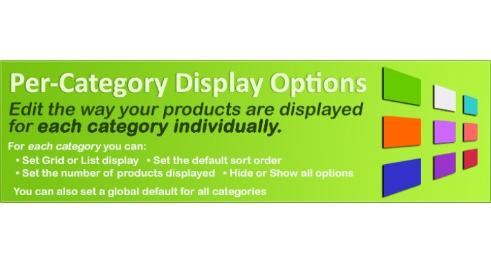 Per-Category Display Options