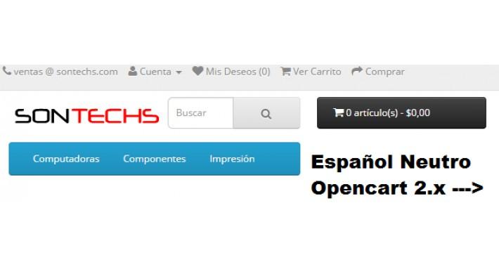 Idioma Español Neutral v2.x (Admin-Catalogo-Módulos)
