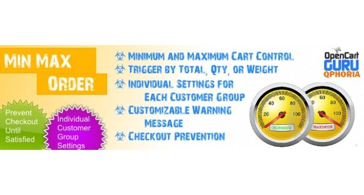 Min / Max Order Limits - Per Customer Group (1.5.x/2.x/3.0)