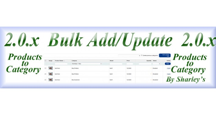 (OcMod) Bulk add/update products to category 2.x