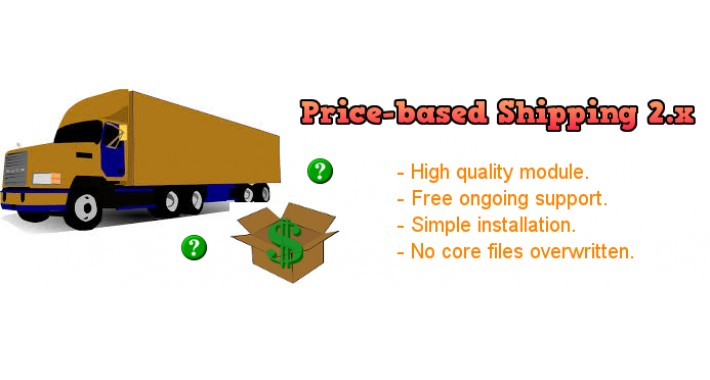 Price Based Shipping 2.x and 3.x