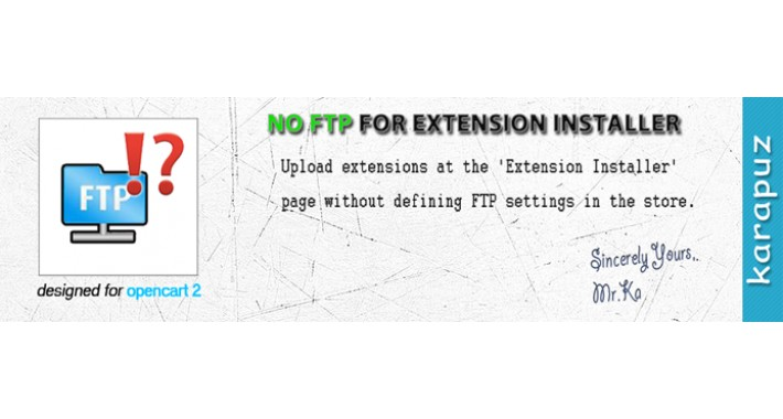 No FTP for Extension Installer
