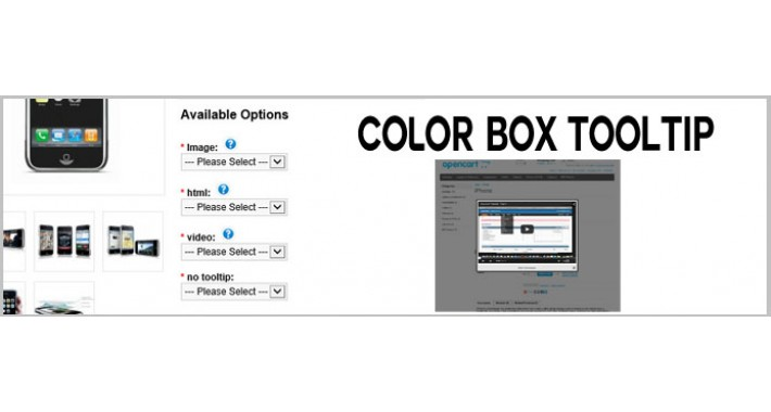 Option Tooltip with Colorbox