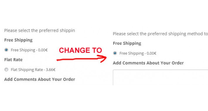 Flat Rate Option Remove, when Free Shipping