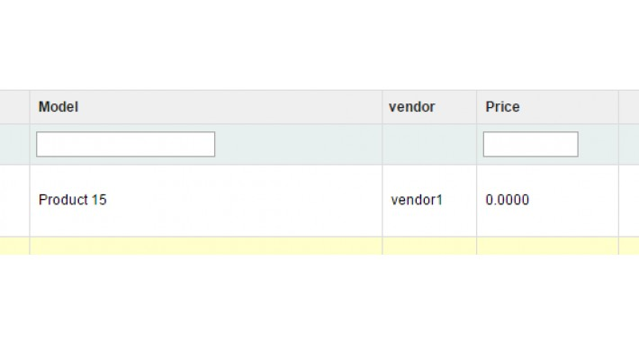 displays vendors in admin products list