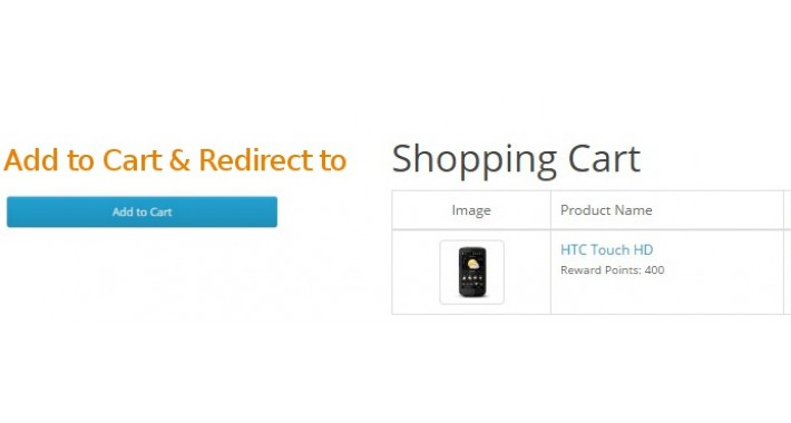 Add to Cart & Redirect to Cart for Opencart 2.0.X