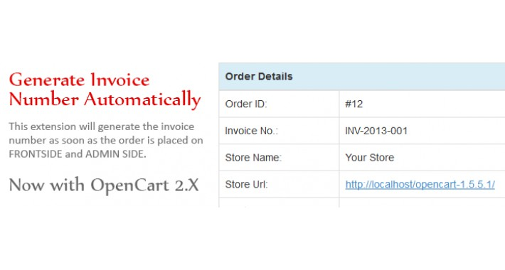 Opencart  Generate Invoice Number Automatically
