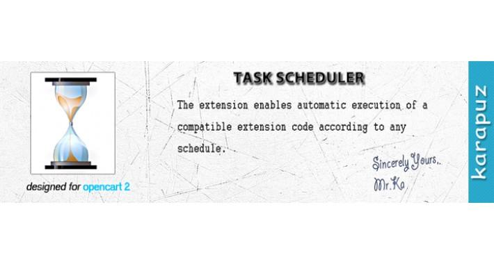 Task Scheduler (for Opencart 2)