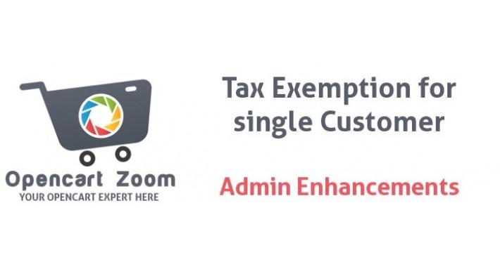 Tax Exemption per Single Customer - Admin controlled