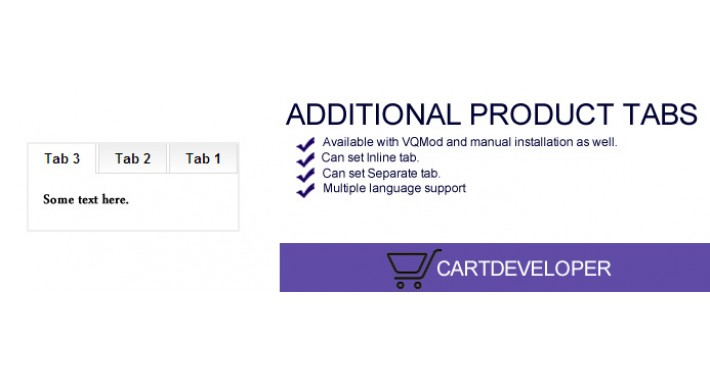 Additional Product Tabs for OpenCart