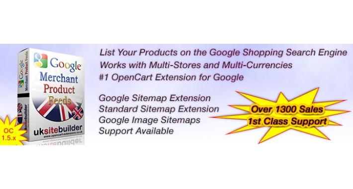 Google Merchant Shopping Feeds + XML Sitemaps OC 1.5.x