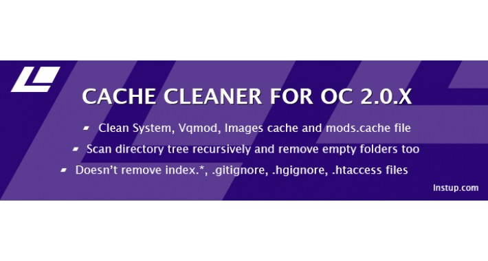 Cache cleaner for Opencart 2.x