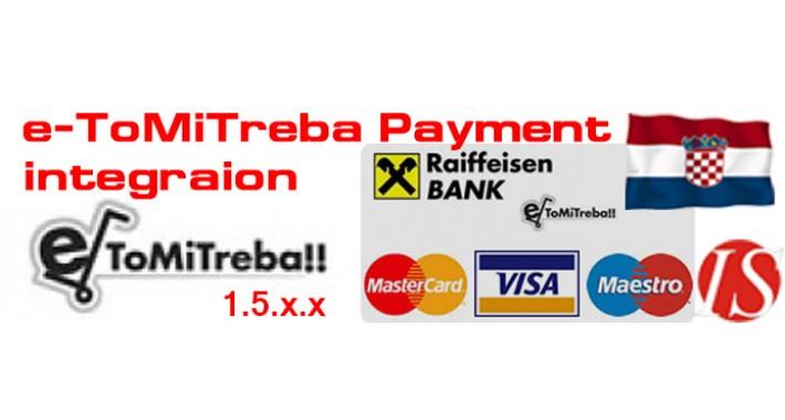 e-ToMiTreba Payment Integration for 1.4.x.x & 1.5.x.x