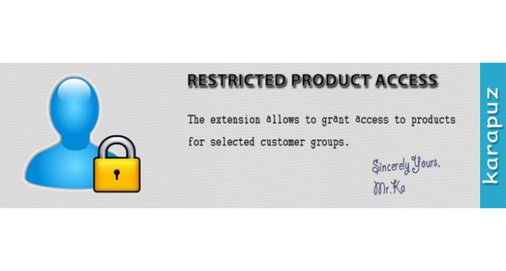Restricted Product Access