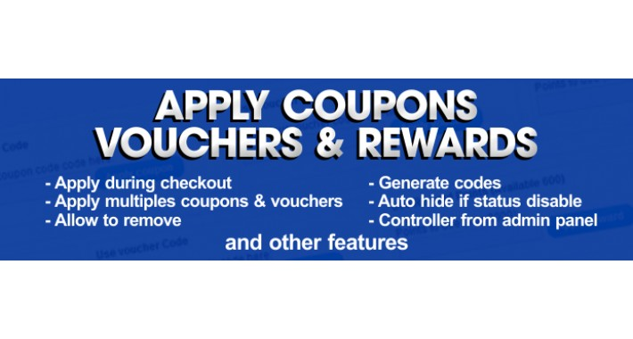 Opencart allow coupons