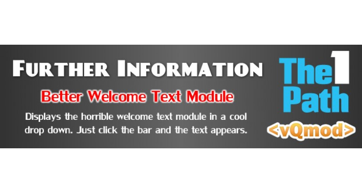 Further Information - Sexy Welcome Text Module