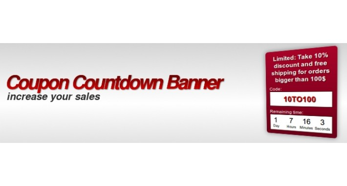 Coupon countdown banner