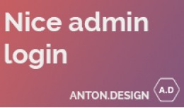 Nice Admin Login