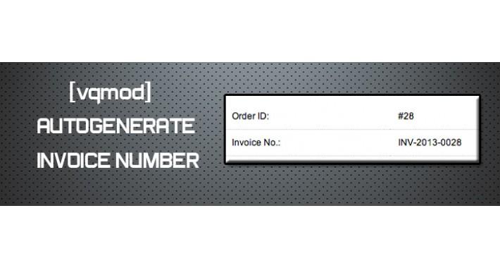 [vqmod] Autogenerate Invoice Number