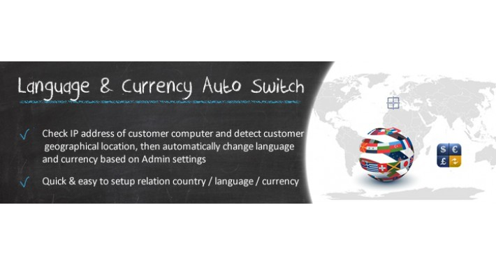 Language & Currency Auto Switch IP Based (OC1.5.x)