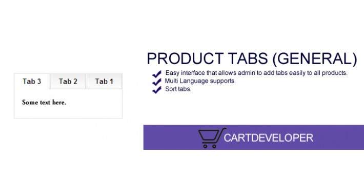 Product Tabs (General) for OpenCart