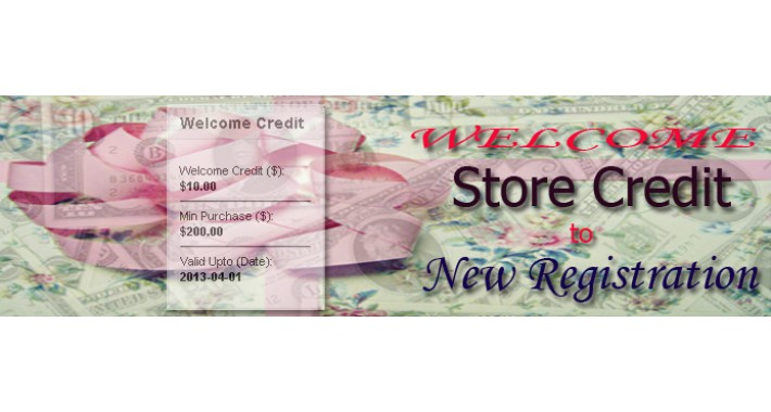 Welcome Credit To New Registration