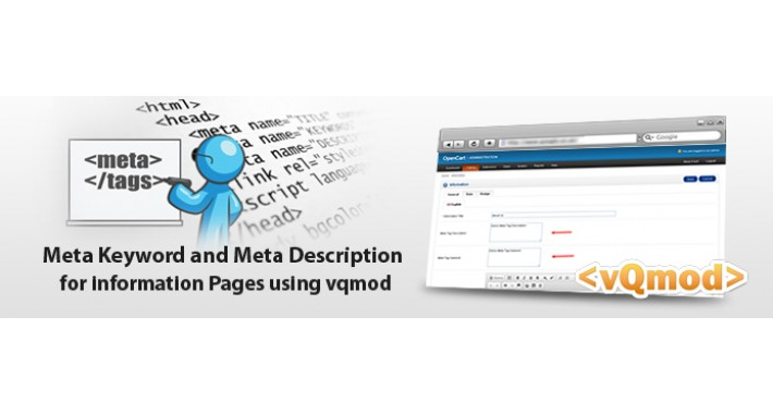 Add Meta Keyword and Meta Description on information page
