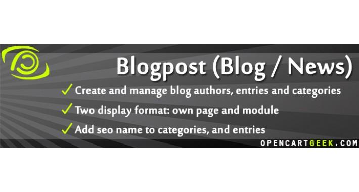 Blogpost (Blog / News Module)