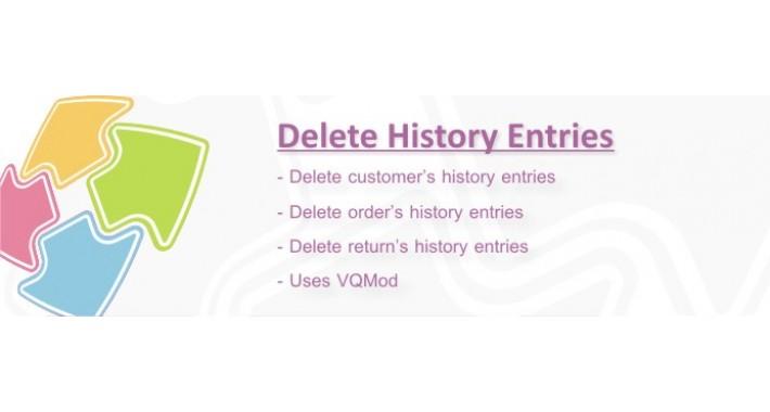 Delete history entries