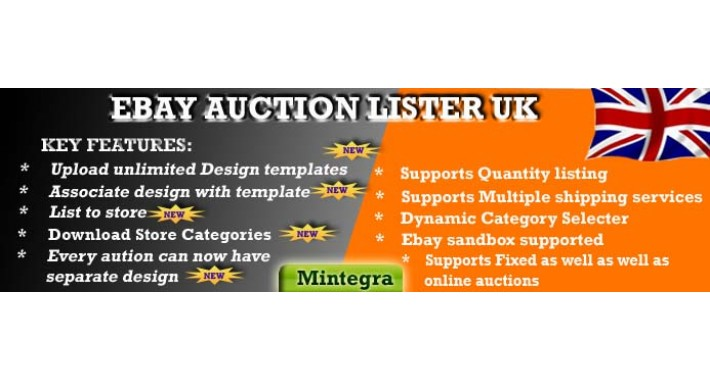 Ebay Auction Lister 3.0 Module OpenCart (UK EDITION) OC 1.5.X