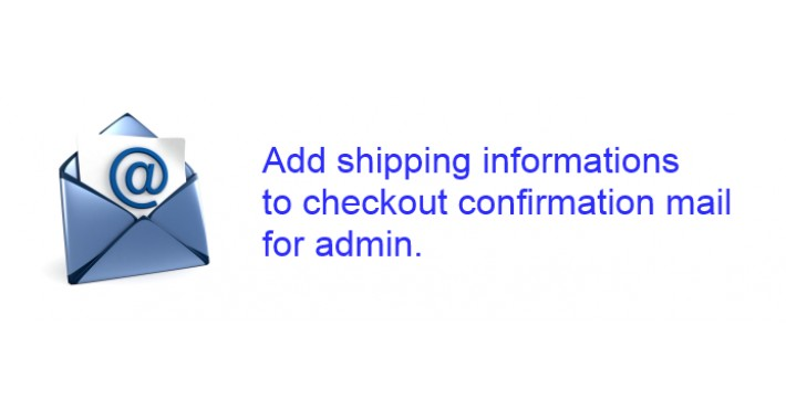 Shipping address in admin confirmation mail