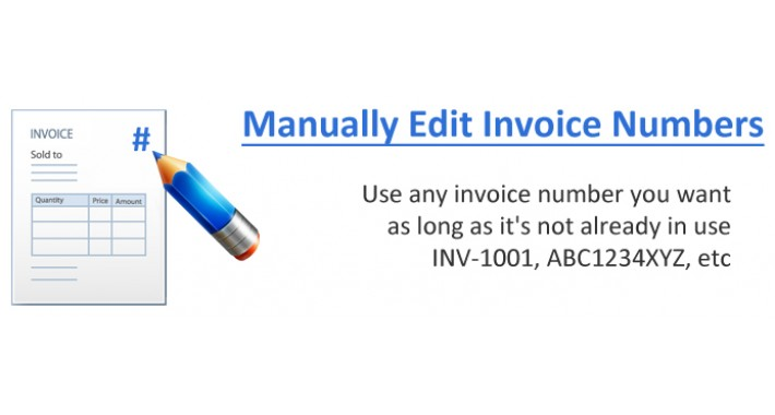VQMOD - Manually Edit Invoice Numbers ( unrestricted )