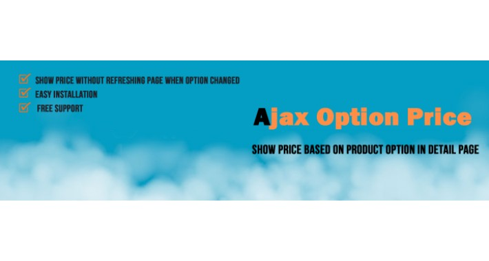 Change Product Price when Option Change - Ajax