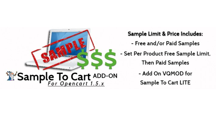 Sample To Cart ADD ON Sample Price Controls