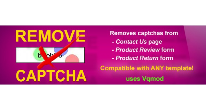 Remove Captcha - (Reviews,Contact,Return,Registration,Checkout)