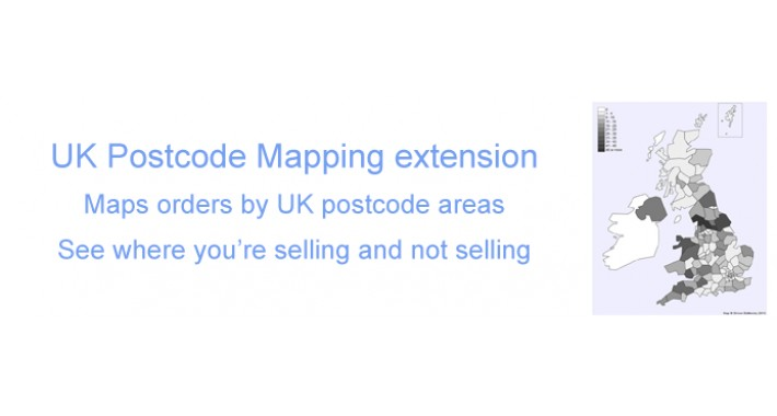 UK Orders by Postcode Mapping Report