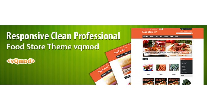 Responsive Clean Professional food store theme