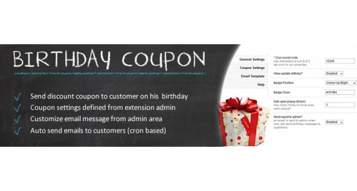 Birthday Coupon OC1.5.x