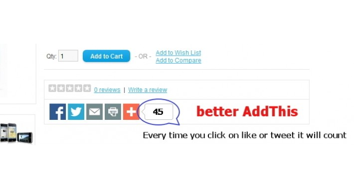 Better AddThis (click yourself unlimited)