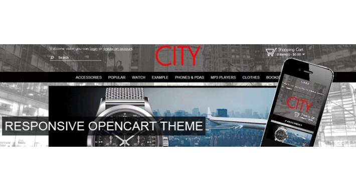 City responsive theme