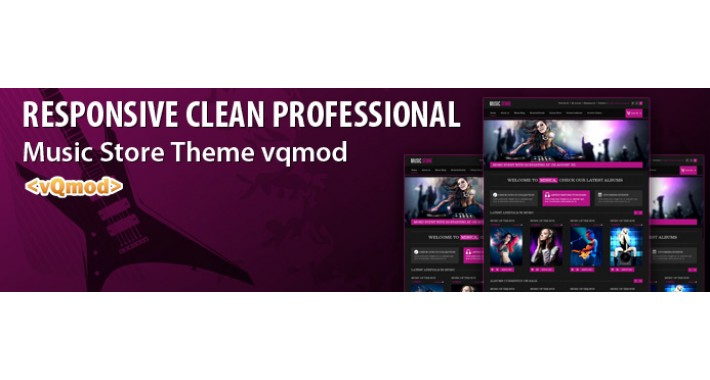 Responsive Clean Professional New Music Store Theme