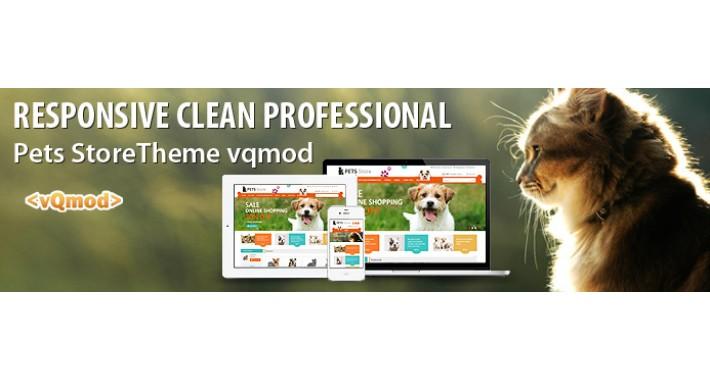 Responsive Clean & Elegant Pet Store Template