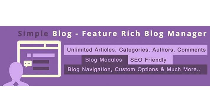 Simple Blog - Feature Rich Blog Manager (Opencart 2.0x)