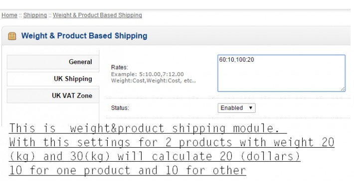 Weight & Product Based Shipping