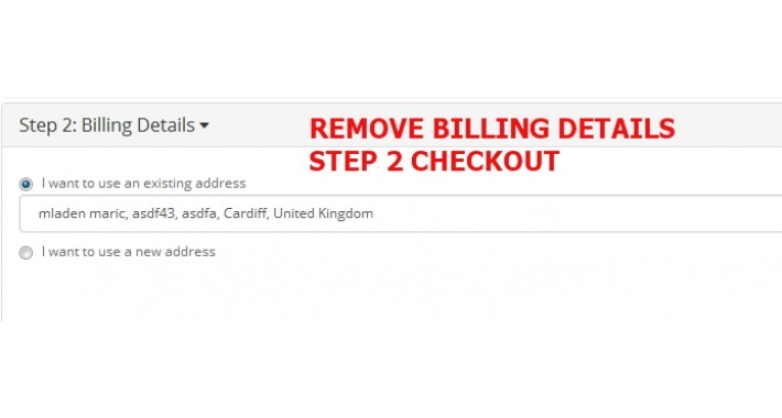 Remove Billing Details - checkout step 2